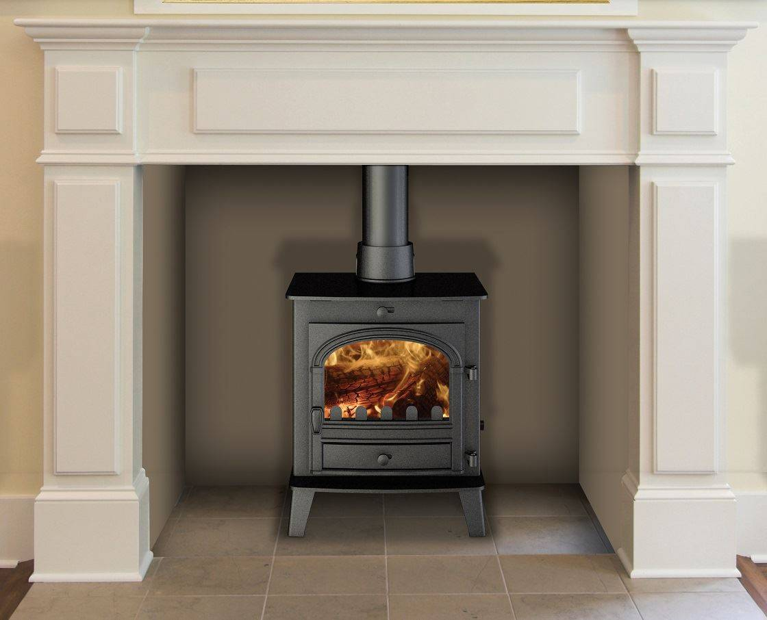 Hunter stoves innovative wood burning stoves log burners consort 5 compact - Small space wood stove model ...