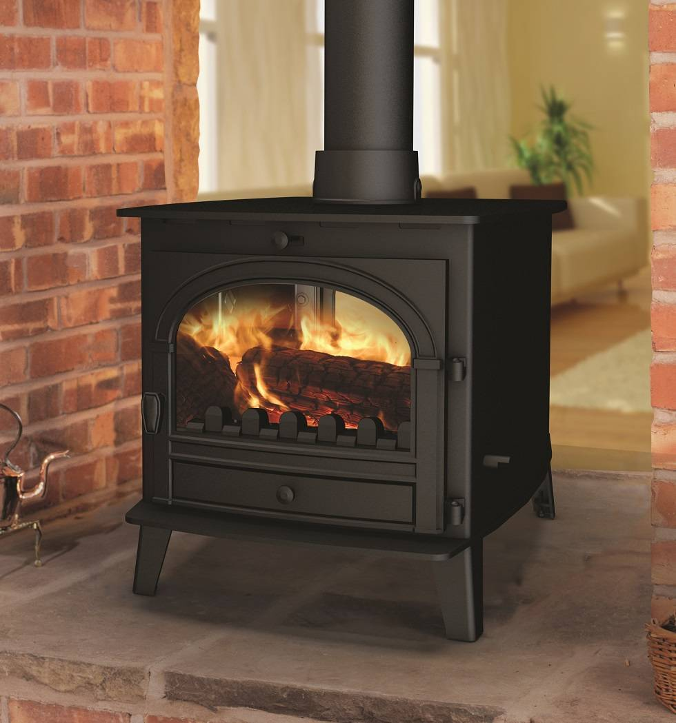 Hunter stoves innovative wood burning stoves log for Poele bois double combustion