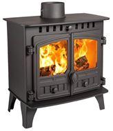 Herald 5, Slimline, Double Door, Wood Burning Model (side)