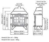 Herald 8 slimline dimensions