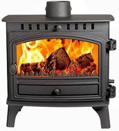 Herald 8, Slimline, Single Door, Wood Burning Model (front)