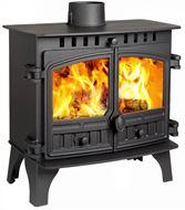 Herald 8, Slimline, Double Door, Wood Burning Model (side)