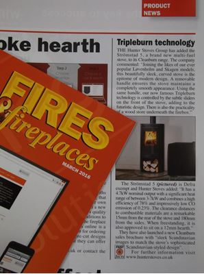 THE STRÖMSTAD 5 IN FIRES & FIREPLACES MAGAZINE