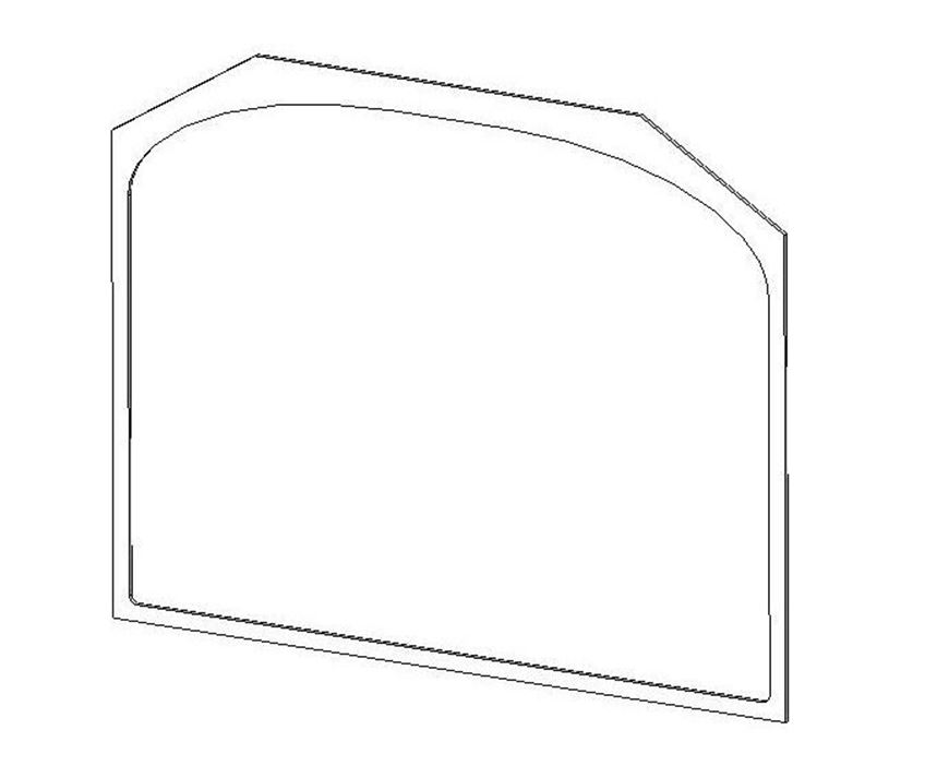 Picture of Glass Gasket - Single door (New type door)
