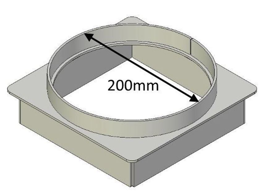 Picture of Flue Gather Adapter - 200mm Round
