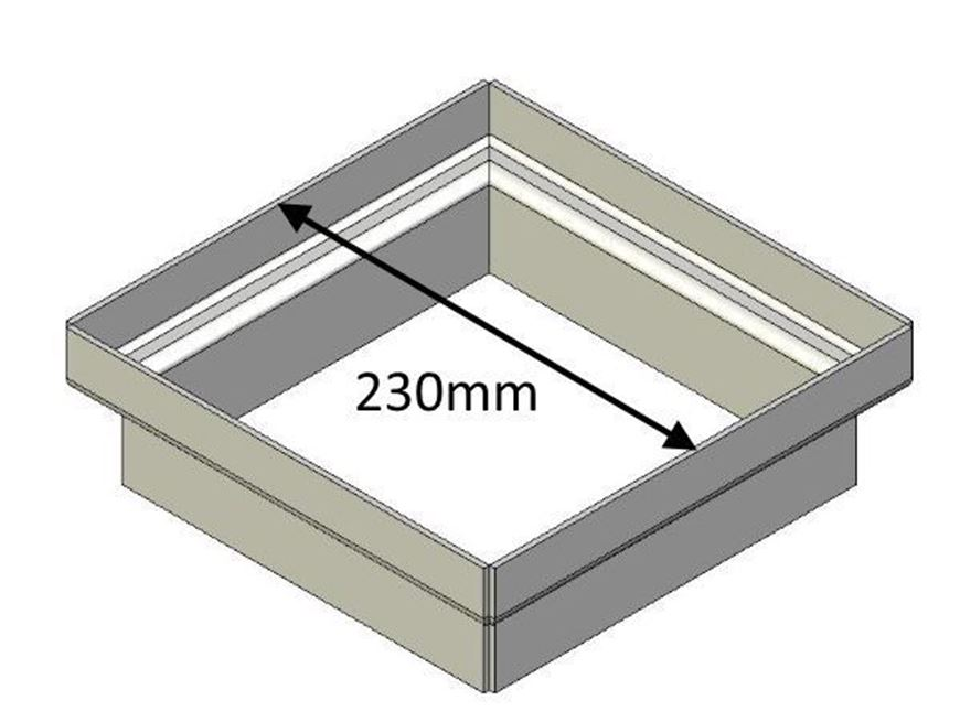 Picture of Flue Gather Adapter - 230mm Square