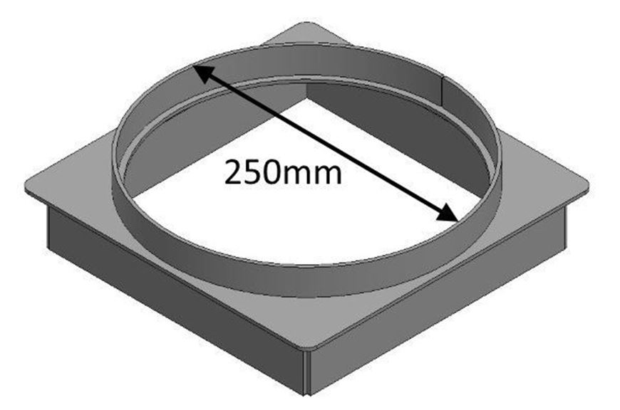 Picture of Flue Gather Adapter - 250mm Round