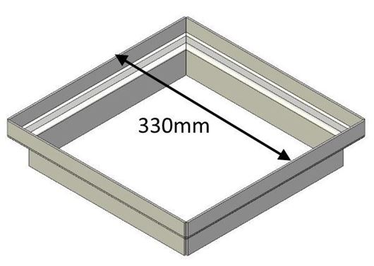 Picture of Flue Gather Adapter - 330mm Square