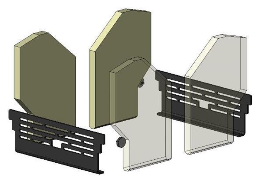 Picture of Wood Conversion Kit - Avalon 4 Double sided Double depth