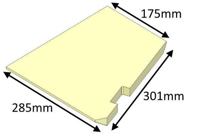 Picture of Base Brick - Right Hand, R6 Inset