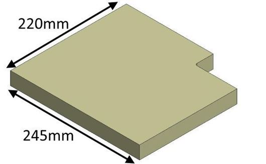 Picture of Lower Baffle Brick - 60F