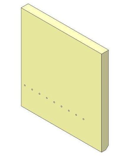 Picture of Rear Brick  - Aspect 8 Eco, Right hand