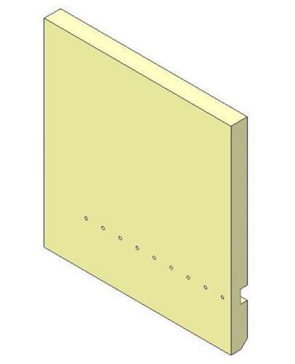 Picture of Rear Brick  - Aspect 8 Eco, Left hand