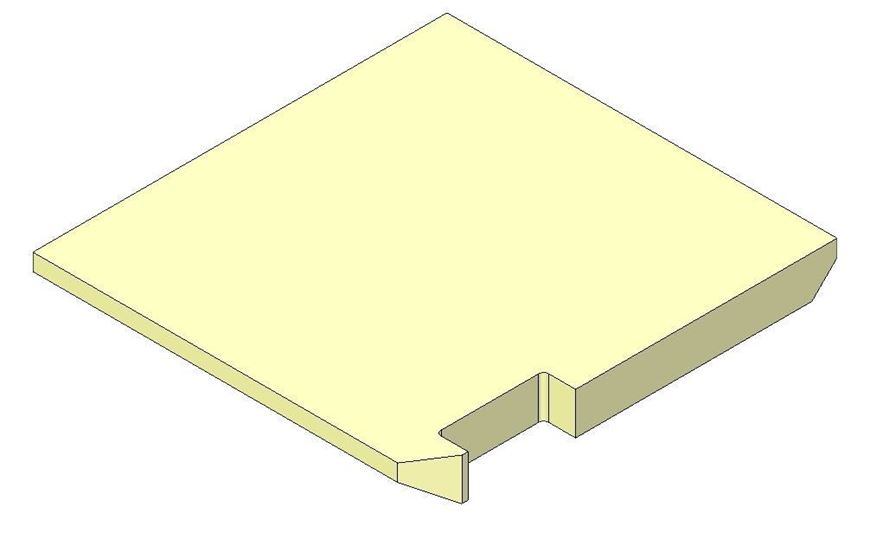 Picture of Base brick - Right hand - R5 Eco