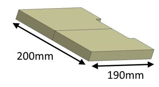 Picture of Baffle Brick - Lower (current model)